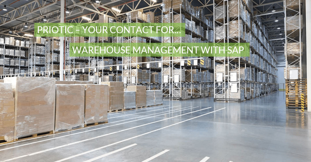 Management of a high-bay warehouse with SAP