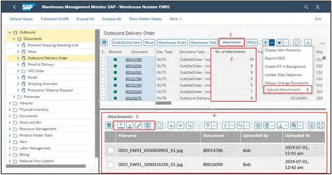 SAP Fiori App Warehouse Monitor